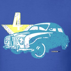 Royal blue Distressed Saab 96 V4 - AUTONAUT.com T-Shirts - Men's T-Shirt