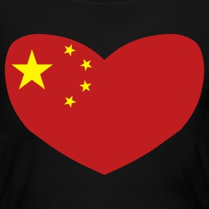 Black Love China Long Sleeve Shirts - Women's Long Sleeve Jersey T-Shirt