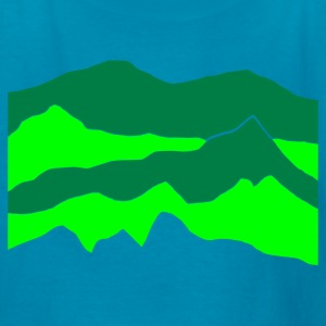 Kelly green mountains - hill - nature - waves - water Kids' Shirts - Kids' T-Shirt