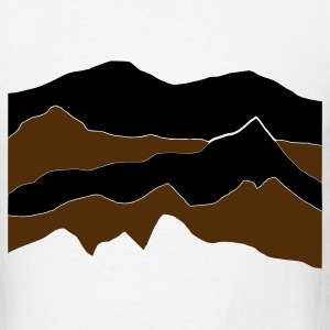 White mountains - hill - nature - waves - water T-Shirts - Men's T-Shirt