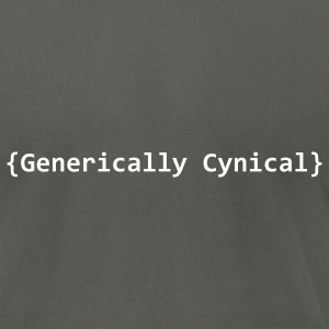 generically cynical T-Shirts - Men's T-Shirt by American Apparel