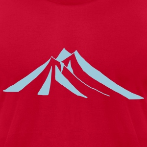 Light blue mountains - hill - nature - mount T-Shirts - Men's T-Shirt by American Apparel