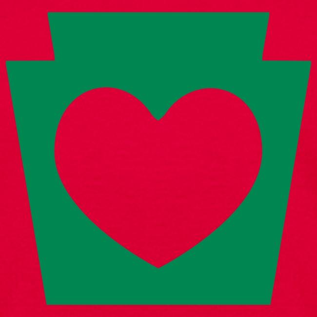 PA Keystone w/Heart