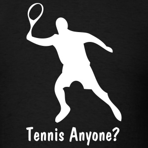 Black Tennis Player T-Shirts - Men's T-Shirt