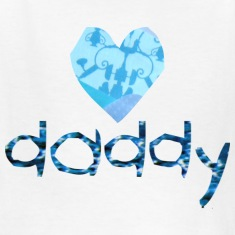 White DADDY (heart) Kids' Shirts