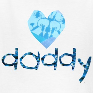 White DADDY (heart) Kids' Shirts - Kids' T-Shirt