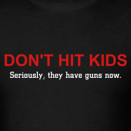 Design ~ Don't Hit Kids Men's Standard Tee