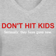 Design ~ Don't Hit Kids Women's V-neck Tee