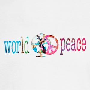 White WORLD PEACE Long Sleeve Shirts - Men's Long Sleeve T-Shirt