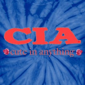 Spider baby blue CIA cute in anything roses T-Shirts - Unisex Tie Dye T-Shirt