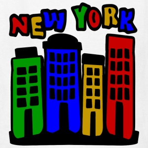 White New York City Brownstones, 4 Color--DIGITAL DIRECT ONLY Kids' Shirts - Kids' T-Shirt