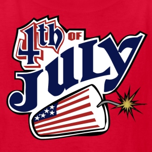 Red July 4th Kids' Shirts - Kids' T-Shirt