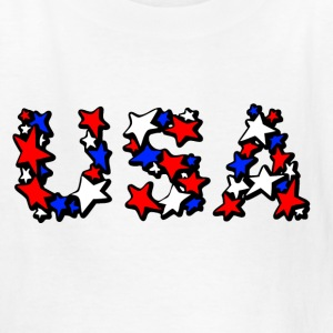 White USA  Kids' Shirts - Kids' T-Shirt