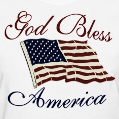 White God Bless America Women's T-Shirts