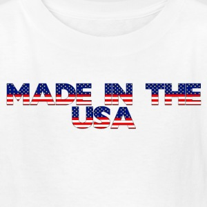 White made in usa Kids' Shirts - Kids' T-Shirt