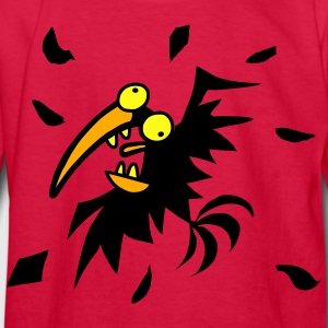 Red OH NO CROW! Kids' Shirts - Kids' Long Sleeve T-Shirt