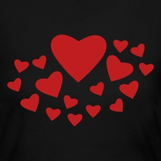Black Heart Spray Long Sleeve Shirts