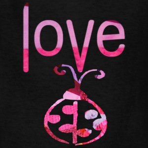 Black LOVE BUG Kids' Shirts - Kids' T-Shirt