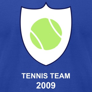 Royal blue teniis ball shield T-Shirts - Men's T-Shirt by American Apparel