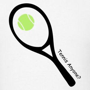 White tennis ball and raquet T-Shirts - Men's T-Shirt