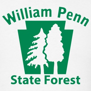 William Penn State Forest Keystone (w/trees) T-Shirts - Men's T-Shirt