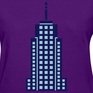 Light blue Skyscraper Building Women's T-Shirts - Women's T-Shirt