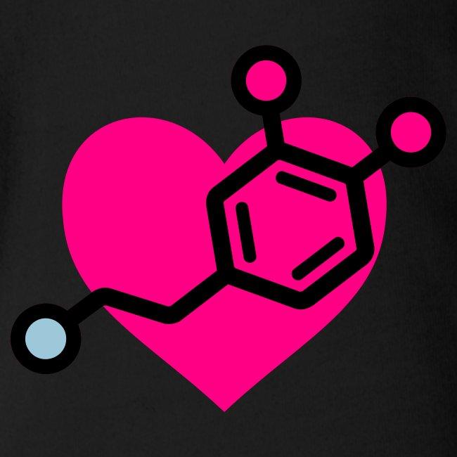 Dopamine-Heart Baby One Piece