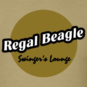 Khaki Regal Beagle Lounge T-Shirts - Men's T-Shirt