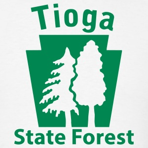 Tioga State Forest Keystone (w/trees) T-Shirts - Men's T-Shirt