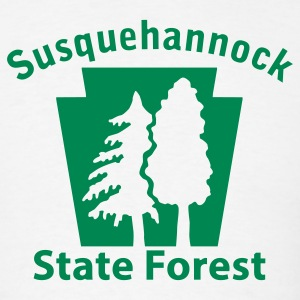 Susquehannock State Forest Keystone (w/trees) T-Shirts - Men's T-Shirt
