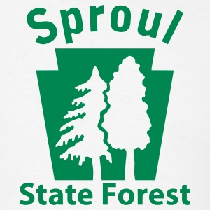 Sproul State Forest Keystone (w/trees) T-Shirts - Men's T-Shirt