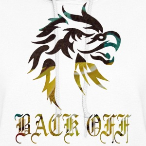 White EAGLE : BACK OFF Hooded Sweatshirts - Women's Hoodie