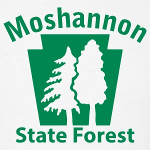 Moshannon State Forest Keystone (w/trees) T-Shirts - Men's T-Shirt