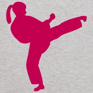 Heather grey Karate Girl Sweatshirts - Kids' Hoodie