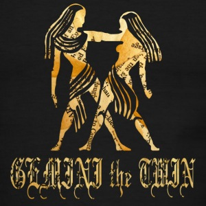 Chocolate/tan GEMINI the TWIN T-Shirts - Men's Ringer T-Shirt