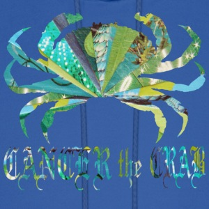 Royal blue CANCER the CRAB Hoodies - Men's Hoodie