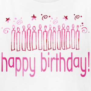White HAPPY BIRTHDAY (pink candles) Kids' Shirts - Kids' T-Shirt