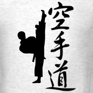 Ash  Karate Man Kanji T-Shirts - Men's T-Shirt