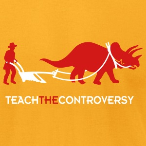 dino-Human Coexistence (Teach the Controversy) T-Shirts - Men's T-Shirt by American Apparel