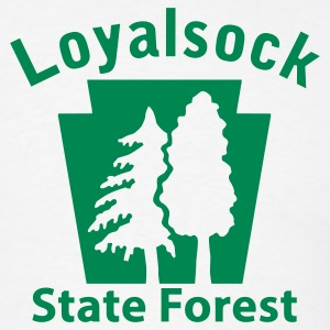 Loyalsock State Forest Keystone (w/trees) T-Shirts - Men's T-Shirt