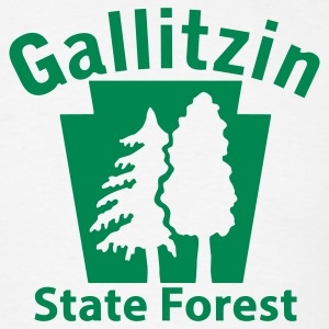 Gallitzin State Forest Keystone (w/trees) T-Shirts - Men's T-Shirt