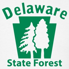 Delaware State Forest Keystone (w/trees) T-Shirts