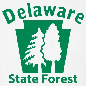 Delaware State Forest Keystone (w/trees) T-Shirts - Men's T-Shirt
