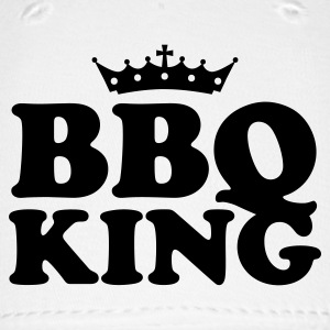 White bbq barbeque king Caps - Baseball Cap