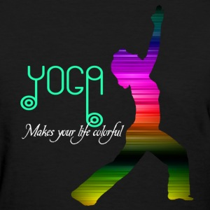 Yoga Makes your life colorful Women's T-Shirt - Women's T-Shirt