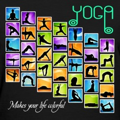Yoga Makes your life colorful Women's T-Shirt