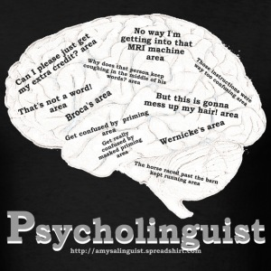 Psycholinguistics Brain - Men's T-Shirt