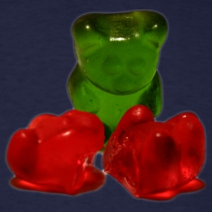 Navy dead gummy bear T-Shirts - Men's T-Shirt