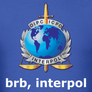 Design ~ brb, interpol (Mens) Standard Weight