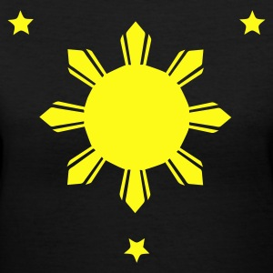 Philippines Sun and Stars T-shirt - Women's V-Neck T-Shirt